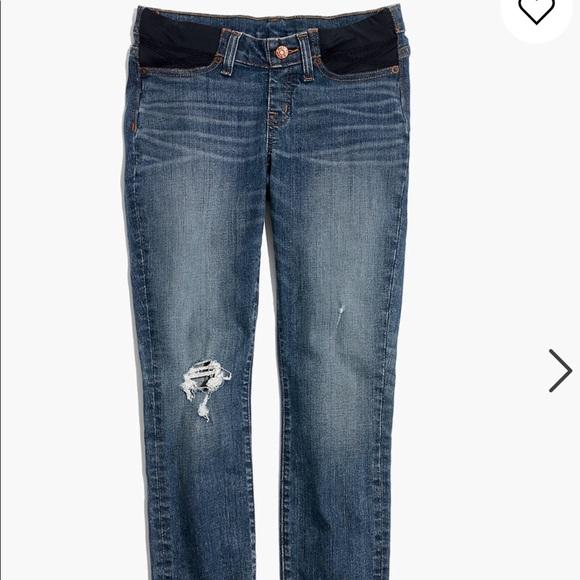 Madewell Pants Jumpsuits Madewell Side Panel Maternity Jeans Poshmark